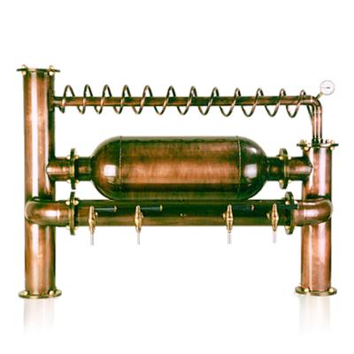 Dispensador de cerveza Alambique con Depósito Horizontal con Puente